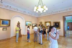 Interno del museo di arte in Yaroslavl Fotografia Stock