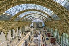 Interno del museo di Orsay Immagini Stock Libere da Diritti