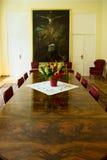 Interno del palazzo di Borch - sala riunioni storica di conferenza Varsavia, Polonia Immagini Stock