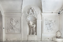 Interno del palazzo di inverno di principe Eugene Savoy a Vienna Fotografie Stock Libere da Diritti