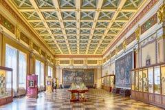 Interno del palazzo di inverno, Museo dell'Ermitage, St Petersburg, Fotografia Stock