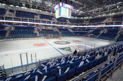 Interno del palazzo VTB Mosca del ghiaccio Fotografia Stock Libera da Diritti