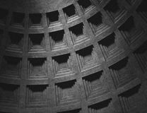 Interno del panteon a Roma Fotografie Stock Libere da Diritti