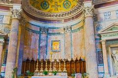Interno del panteon, Roma, Italia Immagini Stock Libere da Diritti