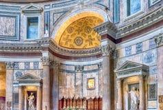 Interno del panteon a Roma, Italia Fotografia Stock