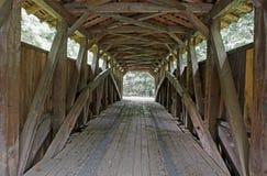 Interno del ponte coperto fotografia stock libera da diritti