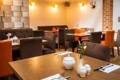 Interno del ristorante Fotografie Stock