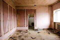 Interno del ristorante abbandonato Immagine Stock Libera da Diritti