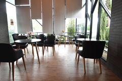 Interno del ristorante del caffè Fotografia Stock Libera da Diritti