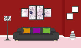 Interno del salone royalty illustrazione gratis
