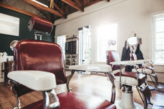 Interno del salone di capelli Fotografia Stock