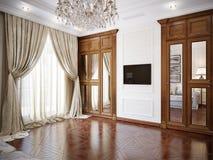 Interno del salone nello stile classico Immagine Stock