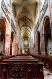 Interno del san Vitus Cathedral a Praga Immagini Stock