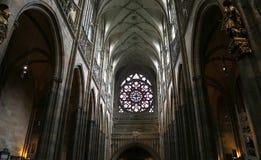 Interno del san Vitus Cathedral a Praga, repubblica Ceca Fotografia Stock Libera da Diritti