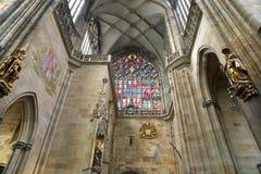 Interno del san Vitus Cathedral a Praga, repubblica Ceca Fotografie Stock Libere da Diritti