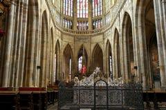 Interno del san Vitus Cathedral a Praga, repubblica Ceca Fotografie Stock