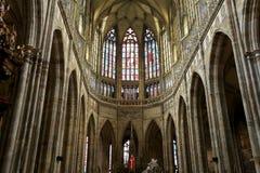Interno del san Vitus Cathedral a Praga, repubblica Ceca Immagine Stock