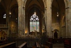 Interno del san Vitus Cathedral a Praga, repubblica Ceca Immagini Stock
