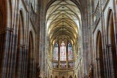 Interno del san Vitus Cathedral a Praga, repubblica Ceca Fotografia Stock