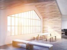 Interno del sottotetto con luce solare royalty illustrazione gratis
