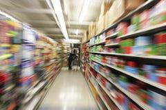 Interno del supermercato Immagini Stock Libere da Diritti
