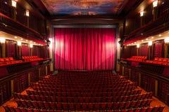 Interno del teatro fotografie stock