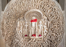 Interno del tempio di Ranakpur Fotografie Stock