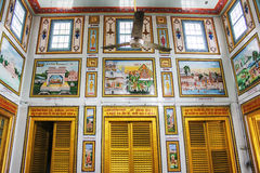 Interno del tempio Jain di Sridigamber, Singhpuri, Sarnath Fotografia Stock