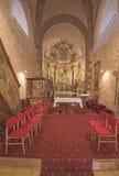 Interno del tempio medievale di Felsoors, Ungheria Fotografia Stock Libera da Diritti