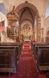 Interno del tempio medievale di Felsoors, Ungheria Fotografie Stock
