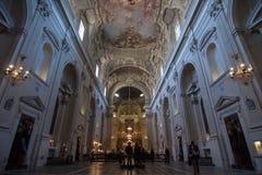 Interno del theSanta Maria del Carmine a Firenze, Italia Fotografia Stock Libera da Diritti