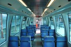 Interno del tram di Alicante Fotografie Stock Libere da Diritti