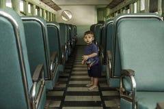 Interno del treno Fotografia Stock