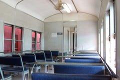 Interno del treno elettrico diesel del motore nessun 51 Fotografie Stock