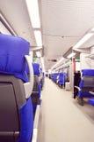 Interno del treno espresso Immagine Stock