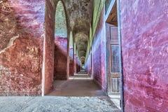 Interno del tunnel del castello Fotografia Stock Libera da Diritti