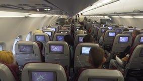 Interno dell'aeroplano del passeggero immagine stock