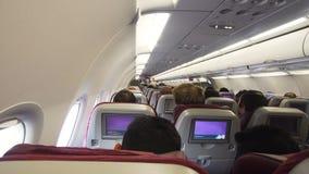 Interno dell'aeroplano del passeggero Fotografie Stock