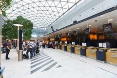 Interno dell'aeroporto di Copenhaghen fotografia stock