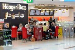 Interno dell'aeroporto di Dubai International Fotografie Stock Libere da Diritti