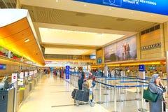 Interno dell'aeroporto di Los Angeles nominato da Tom Bradley Terminale internazionale fotografia stock