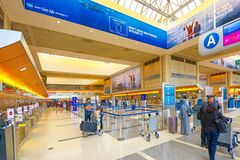 Interno dell'aeroporto di Los Angeles nominato da Tom Bradley Terminale internazionale fotografie stock