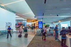 Interno dell'aeroporto di Los Angeles nominato da Tom Bradley Terminale Southwest Airlines immagine stock