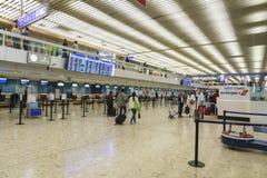 Interno dell'aeroporto a Ginevra Immagini Stock
