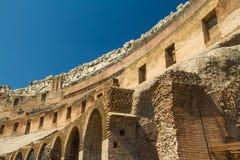 Interno dell'anfiteatro del Colosseo o di Roman Colosseum Fotografia Stock