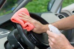 Interno dell'automobile di pulizia Fotografia Stock