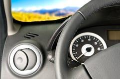 Interno dell'automobile/vista di paesaggio Fotografia Stock