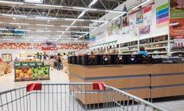 Interno dell'ipermercato Karusel Fotografie Stock
