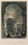 Interno dell'oggetto d'antiquariato 1830 della chiesa StPetersburg di Kazan in Russia Immagine Stock