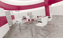 Interno dell'ufficio di rosa di progettazione moderna Fotografia Stock